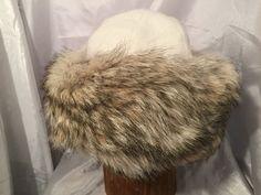 Beautiful Mongolian, Russian, Cossack, Norse, Celtic, cashmere Winter white wool, Coyote fur