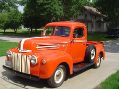 1946 Ford 1/2 ton 	 Price: $25,000 VIN: 515350 Stock #: DF4164LJ3  8 cylinders Pickup Transmission: Automatic Color: Orange