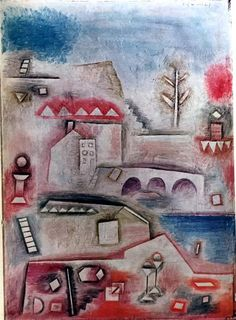 Paul Klee Place of Discovery c.1927 Fine Art Print 9 x 7""