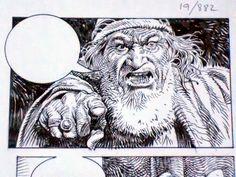 "MIS ORIGINALES, 1: PAOLO ELEUTERI SERPIERI Y LA ""BIBLIA"" : Desde el Nibelheim * Serpieri, Art Studios, Comic Art, Lion Sculpture, Pencil, Characters, Ink, Statue, Comics"