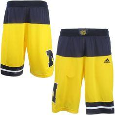 Michigan Wolverines adidas 2015 March Madness Replica Basketball Shorts - Maize