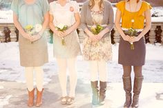 Inspired by These Colored Tights with Wedding Attire - Inspired By This