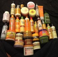 I don't have them all but I definitely have at least half and they have helped grow hair from being damaged from color to growing it back from being cut completely off Pelo Natural, Natural Hair Tips, Natural Hair Journey, Natural Hair Styles, Going Natural, Pelo Afro, Growth Oil, Hair Growth, Black Hair Care