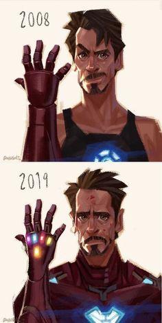 Iron Man 2008 and 2019 - Iron Man Evolution Marvel Comics, Marvel Avengers, Marvel Jokes, Marvel Heroes, Iron Man Wallpaper, Marvel Wallpaper, All Spiderman, Die Rächer, Heroes Of Olympus