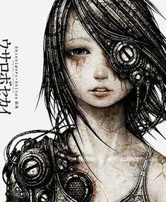 Usarobo Sekai The Art of Shichigoro Illustration Art Book Cyberpunk Cyberpunk Tattoo, Cyberpunk Kunst, Cyberpunk Girl, Cyberpunk Character, Steampunk Drawing, Steampunk Kunst, Steampunk Makeup, Steampunk Men, Steampunk Crafts