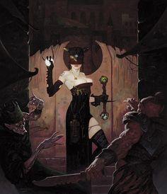 Fantasy Art of Brom Darkest artist of Fantasy Gothic Fantasy Art, Fantasy Artwork, Dark Fantasy, Goth Art, Sword And Sorcery, Horror Art, Fantasy Characters, Dark Art, Character Art