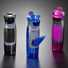 sports bottles, not only for drinking out of but for holding your keys and money if out jogging.