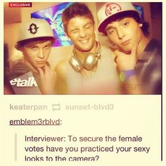 From left to right: Keaton Stromberg, 16, Drew Chadwick, 20, Wesley Stromberg, 18