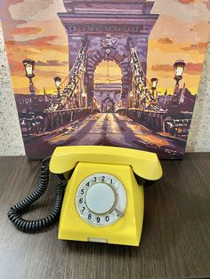 Vintage yellow phone,old rotary phone,made USSR 1985s,circle dial rotary phone,vintage landline phone,Old Dial Desk Phone,Yellow phone Wind Up Pocket Watch, Vintage Pocket Watch, Pay Attention To Me, Retro Phone, Vintage Phones, Business Card Holders, Vintage Yellow, Rotary, Landline Phone