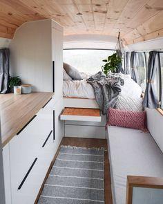 caravan living by civilian.journal for more - Caravan Living, Bus Living, Tiny House Living, Home And Living, Renovation Design, Caravan Renovation, Airstream, Rangement Caravaning, Kombi Home