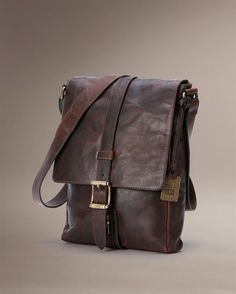 Logan Small Messenger - Men's Leather Bags, Messenger Bags and Brief Cases - The Frye Company