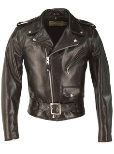 Horsehide Perfecto Leather Jacket (Black) 618HH