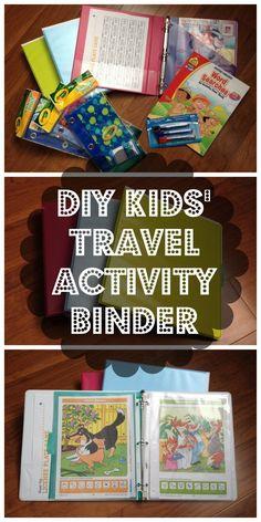 DIY Kid's Travel Activity Binder