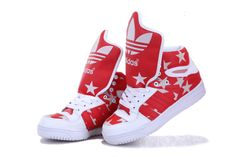Jeremy Scott Big Tongue Shoes Red White