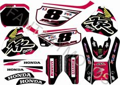 Honda Xr 600, Xr600r , FULL GRAPHIC KIT DEKOR AUFKLEBER Sticker
