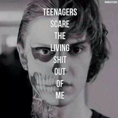 My Chemical Romance - Teenagers lyrics. (Tate, American Horror Story) <3  This is all too much!!!!!!