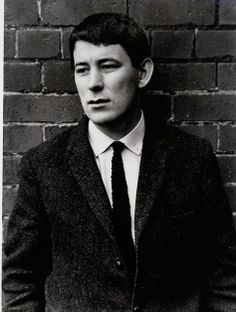 The poet Seamus Heaney as a young man, Ireland, 1966, photograph by Faber Books (photographer unattributed).
