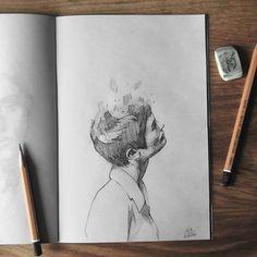Sketchbook    #face #portrait #hair #figure #sketch #sketching #sketchbook #paper #pencil #draw #drawing #art #artwork #pencilsketch #pencildrawing #pencilart #miro_z #arts_help #beautifulbizarre #artcomplex #drawingthesoul #artist_4_shoutout #onyxkawai #artwhisper