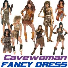 CAVEWOMAN Stoneage Ladies Jungle Cave Girl Fancy Dress Costume | eBay