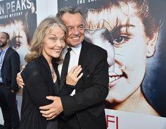Celebripost: Gli attori Grace Zabriskie (73) e Ray Wise (66), particolarmente famosi per i loro ruoli in Twin Peaks, alla presentazione della versione in Blue Ray di Twin Peaks-The Entire Mystery all'American Film Institute a Los Angeles, in California - Il Post