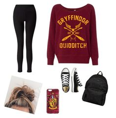 Gryffondor's style by thechouquette on Polyvore featuring polyvore, mode, style, Miss Selfridge, Converse, Hogan, fashion and clothing