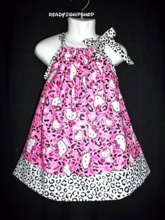 25aa9117a Hello Kitty dress SALE cheetah pink outfit Birthday Party ready to ship 12m  18m 24m 2t