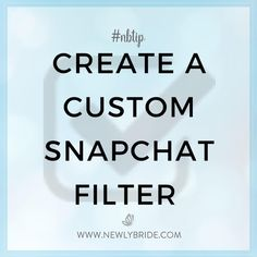 With the growing popularity of Snapchat, a total DO for a tech-savvy bride is to create a custom filter to share wedding memories as they happen. To learn more about this awesome NB Tip, visit newlybride today!