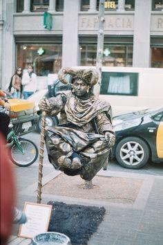 Las Ramblas Street, Barcelona-- great street performers/artists