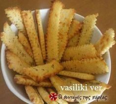 potato sticks made with mashed potatoes and feta Cake Recipes, Snack Recipes, Cooking Recipes, Greek Pastries, Wine And Cheese Party, Christmas Party Food, Recipe Images, Greek Recipes, Party Snacks