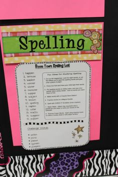 spelling list ideas