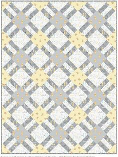 = free pattern = Cracker Lattice quilt at Camelot Fabrics