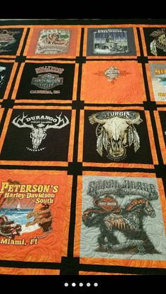 Harley Davidson t-shirt quilt memory quilt by JCQuiltersTX on Etsy