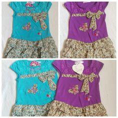 BNWT girls rara t-shirt summer dress floral lace Sizes 2-6years £4.99