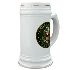 US Army Stein #UnitedStatesArmy #Army  #SupportourTroops  #ArmyStrong #SupportourMilitary #USA Lots of products  For this design click here --  http://www.cafepress.com/dd/97168084