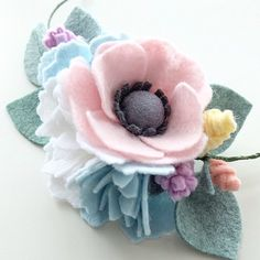 Felt Flower Wreath for Hair - Felt Flower Headband
