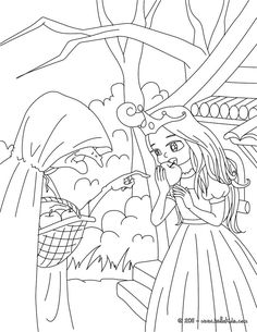Little Red Riding Hood coloring page: Going to Grandma's ...