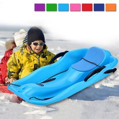 Cheap snow sled, Buy Quality children sled directly from China sled snow Suppliers: Children Sleds Outdoor Winter Plastic Skiing Boards Adult Snow Sleds Two Brakes Light Weight Thicken Plastic Ski Pad Toboggan Luge, Snowboarding, Skiing, Sleds For Kids, Snow Toys, Look Good Feel Good, Adult Children, Kayaking, Outdoor