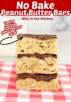 Reese's Peanut Butter Cups are an all time favorite at our house and these bars taste just like the much loved candy bar. I bet you even have all of the ingredients on hand! Desserts To Make, Great Desserts, Best Dessert Recipes, Delicious Desserts, Cheesecake Recipes, Yummy Recipes, Classic Peanut Butter Cookies, Peanut Butter No Bake, Peanut Butter Desserts
