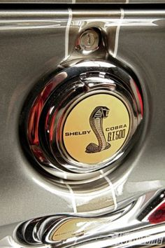Exquisitely restored 1967 Mustang Shelby Cobra rear gas cap and emblem. Shelby Cobra Gt500, Ford Mustang Shelby Cobra, 1967 Mustang, Car Badges, Car Logos, Shelby Gt 500, Mustangs, Ford Girl, Pony Car