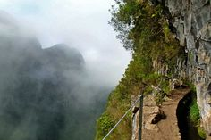 Paths can be narrow and precipitous | Weather2Travel.com #Madeira #travel #Portugal