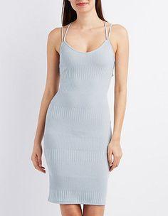 Strappy Ribbed Bodycon Dress #CharlotteLook