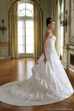 David Tutera for Mon Cheri Wedding Dresses Spring 2012