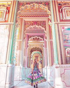 The entrance of Jawahar Circle (the largest circular park in Asia) is through the kaleidoscope of the Patrika Gate, and beautifully reflects the vibrant culture of Jaipur, India. Cheap Places To Travel, Places To Go, India Travel, Jaipur Travel, Travel Aesthetic, Travel And Leisure, Travel Abroad, Adventure Is Out There, Holiday Travel