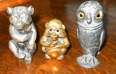 Three Figural Pounce Pots or Sanders_Judith Walker's Collection
