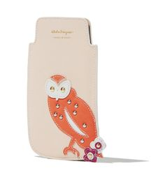 The  owl, star of a famous Ferragamo foulard designed in the 70s, inspired this colourful cell phone case: it's Salvatore Ferragamo's special Holiday Gift collection for: find out more and shop online at www.ferragamo.com