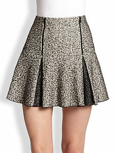 Robert Rodriguez Flippy Pleated Twill Mini Skirt