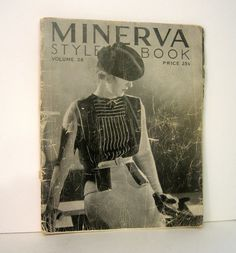Vintage Fashion. 1934 Minerva Style Book by ProfessorBooknoodle