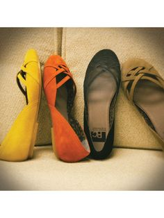 I like all 4 colors...in need of new black and brown flats in particular though.