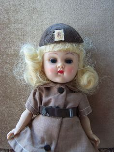 1950's Vogue Ginny Doll in Brownie Uniform