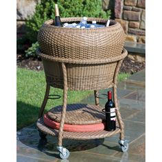 Everwoven Versa Beverage Cooler. Adding a beverage cooler to your patio or entertainment area not only dresses up the area, but is also is functional and fun!